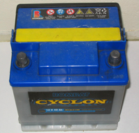 A lead-acid car battery