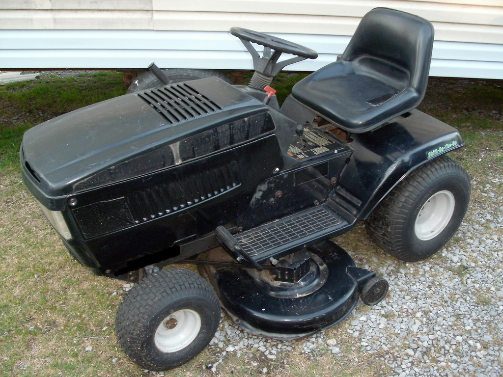 electric powered riding mower