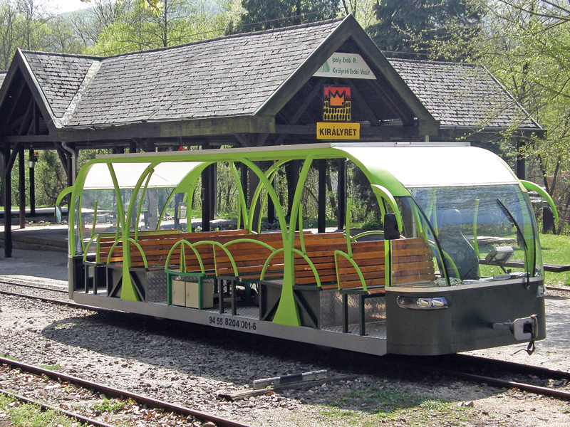 Borzsony solar-powered electric passenger railcar